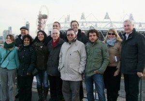 Visit to the Olympic venues before meeting the Games organisers