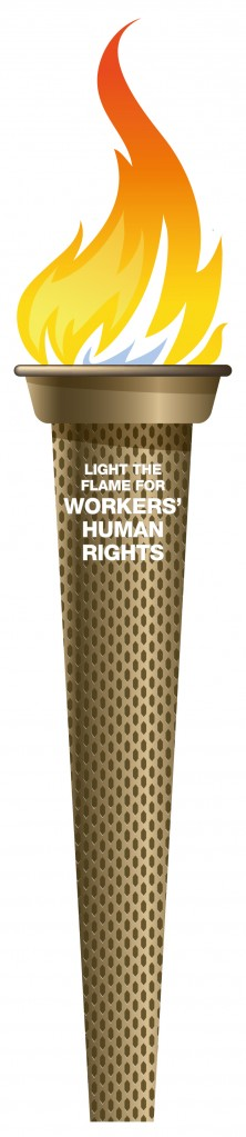 Light the flame for workers' human rights